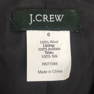 J. Crew Jackets & Coats - J. Crew Charcoal Wool Blazer / 100 Silk Trim SZ 0